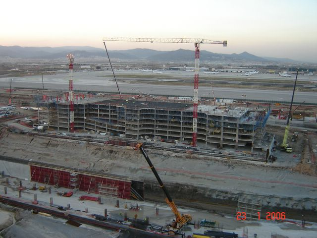 New terminal aiport of Barcelona